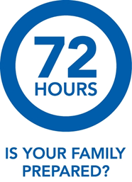 Image asking if your family is prepared to be independent for 72 hours