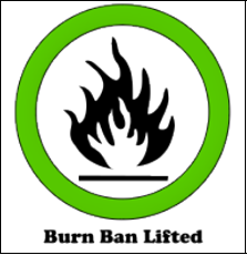This symbol means that the burn ban has been lifted or is OFF