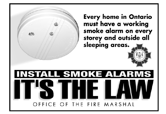 Install smoke alarms it's the law image